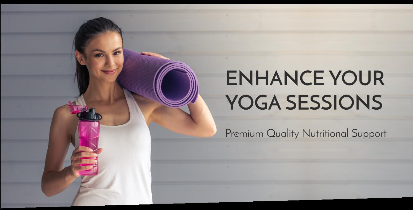 yoga girlw ith yoga mat